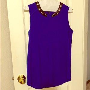 Vibrant blue blouse